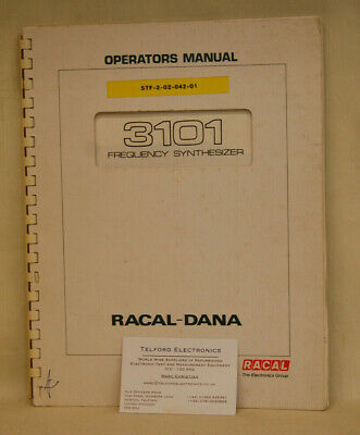 Racal Dana. 3101 Frequency Synthesizer Operators Manual