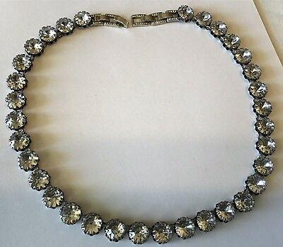 Stella & Dot Clear Crystal Paste Necklace