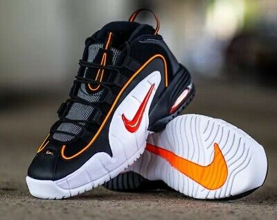 df5c8ba4ed NEW BOYS NIKE Air Max Penny LE (GS) Shoes Black Total Orange White ...