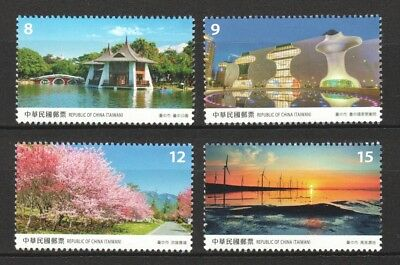 Rep. Of China Taiwan 2018 Taiwan Scenery Taichung City Comp. Set 4 Stamps Mint