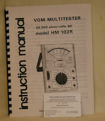 Hung Chang. HM-102R Vom-Multitester Instruction Manual - Photocopy