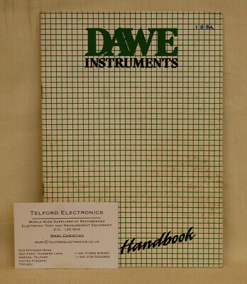 Dawe Instruments D-1221A Digital Stroboflash Operators Handbook