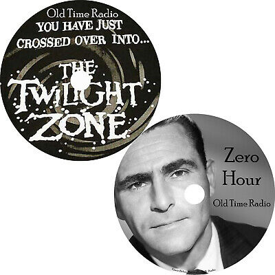 Twilight Zone Zero Hour Old Time Radio Shows OTR 300+ Episodes on 2 MP3 DVDs