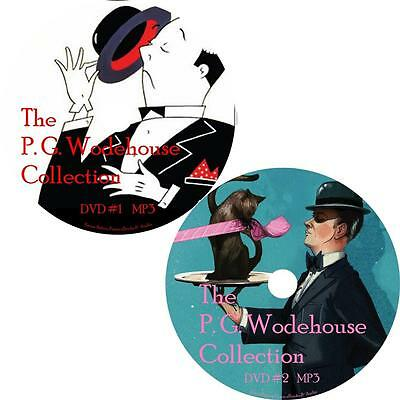 P. G. Wodehouse Audio Book Collection Unabridged Comedy Fiction on 2 MP3 DVDs
