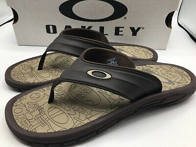 f39b106a3f18 Oakley SuperCoil 4.1 Slide Men s Sandals 101330DM-851 Size 13 BROWN NEW IN  Box
