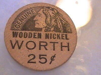 Wooden Nickel Worth 5 Cents On Next Presc Ps Pharmacy Norman Ships