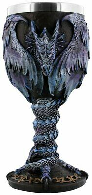 Draconic Kingdom Goblet - Gothic Dragon Fantasy Wine Drinking Vessel Collectible