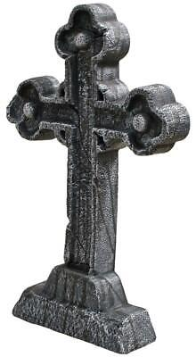 Life Size CELTIC CROSS Tombstone Cemetery Halloween Prop Outdoor Decor HAUNTED