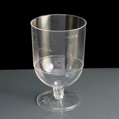 30 x Disposable Plastic Wine Glass 175ml Wedding Champagne Goblet Cocktail Cup
