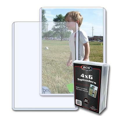 1 Pack of 25 BCW Brand 4 x 6 Topload Postcard Photo Holders Storage Protection