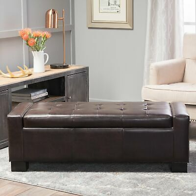 Admirable Chatham Espresso Bonded Leather Storage Ottoman By Cjindustries Chair Design For Home Cjindustriesco