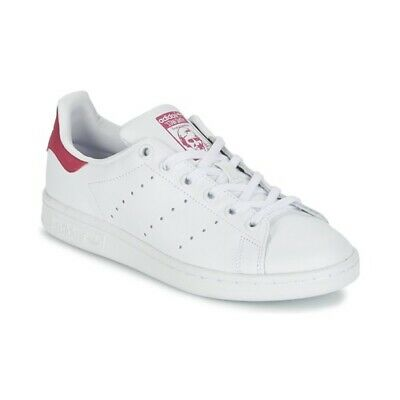 half off 8932b ee666 scarpe bambina ADIDAS ORIGINALS STAN SMITH J Bianco rosa sneakers sportive