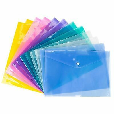 A3 A4 A5 Plastic Document Wallets File Folder Polyfile Stud Storage For Office