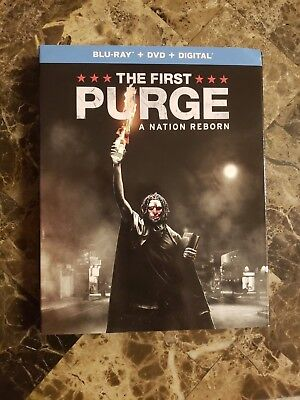 THE FIRST PURGE (2018, Blu-Ray Disc ONLY w/slip cover & case) No DVD No Digital