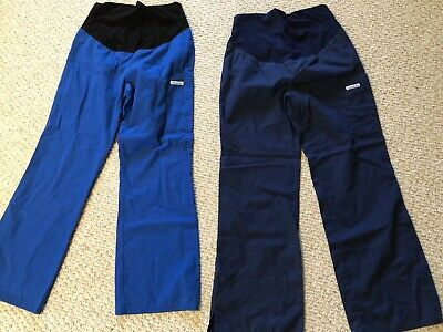 ea0217d8939d5 Lot Of 2 Maternity Scrub Pants, Cherokee brand, Extra Small, Blue and Navy