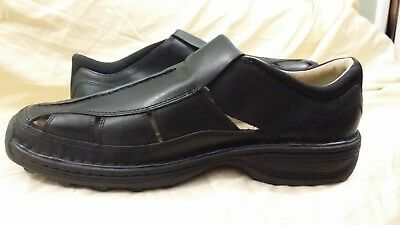 MEN'S TIMBERLAND ALTAMONT Fisherman Sandal Oiled Leather (Black) Size 13.