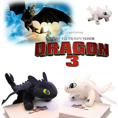 How To Train Your Dragon 3 Plush Doll Toothless Light Night Fury Stuffed Toy AU