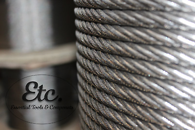 Stainless Steel Wire Rope Cable (1000m) Sizes 2mm 3mm 4mm 5mm 6mm