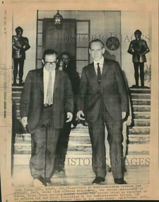 1971 Press Photo Malta's Mintoff and Soviet's Smirnovsky meet in Malta