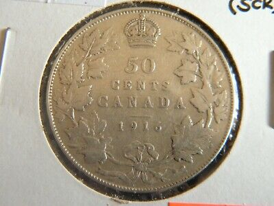 1916 Canada Sterling Silver 50 Cent Piece-19-45