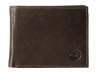 PRE Timberland Mens Bifold Wallet Genuine Leather Wellington Passcase Brown