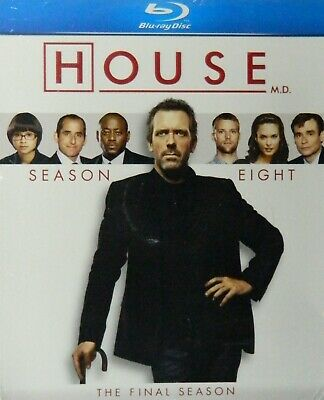 HOUSE The COMPLETE EIGHTH SEASON Blu-ray 16+ Hours 22 Episodes + Bonus Features