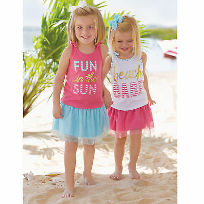 Mud Pie E7 Baby Girl Turquoise Or Pink Mesh Skirt & Bloomers 1172156 /1172155