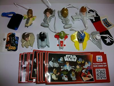 Kinder Surprise - Star Wars Complete Set Of 11 With All Papers - Ferrero 2016