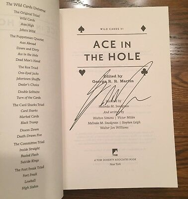 Wild Cards VI: Ace In The Hole Signed George RR Martin - Game Of Thrones