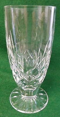 """Waterford Crystal 14 Oz Iced Tea Glass / Footed Tumbler - Lismore - 6 1/2""""Tall"""