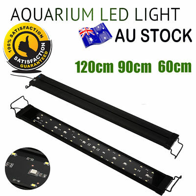 60 90 120cm Aquarium LED Light Full Spectrum Touch Switch Plant Fish Tank Lamp