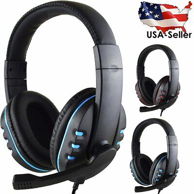3.5mm Wired Surround Stereo Gaming Headset Headphone with Mic for PC PS4 Xbox