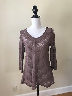 7e0db7588219b4 ANTHROPOLOGIE COLETTE PULLOVER XS Sheer Ruffle Lace Blouse LILKA Top ...