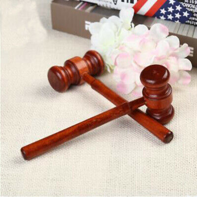 DIY Wooden Auction Hammer for Lawyer Judge Handcrafted Gavel Court HammerLG