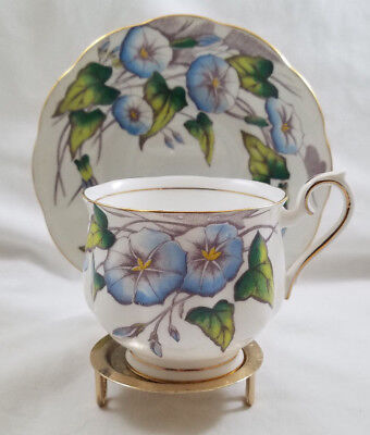 Vintage Royal Albert Morning Glory Flower of the Month Tea Cup & Saucer