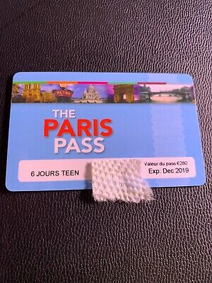 Paris Pass 6 Day TEEN, Expires 12/19