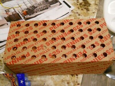 2019 P Lincoln Cent Full Box 50 Rolls 2500 Pennies GEM BU RED UNOPENED!!