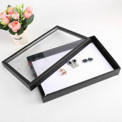 100 Earring Ring Jewellery Display Storage Box Tray Show Case Holder Vintage