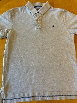 fd23dd55 American Eagle Outfitters AE Men's Gray Vintage Fit Polo Shirt Size Medium  M EUC