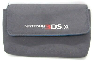 Nintendo 3DS XL Gray & Turquoise Blue Soft Carrying Case Travel Bag