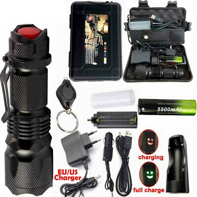 90000LM X800 Ultrafire Tactical Military T6 LED Flashlight Torch Work Light Camp