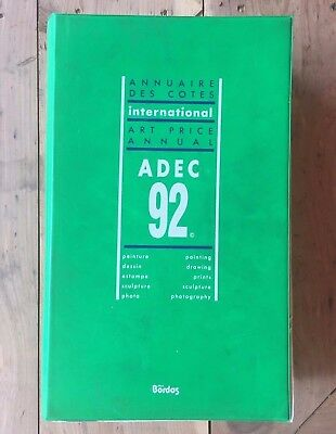 ADEC 1992 Art Price Annual International Reference Book Bordos