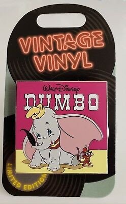 Disney Vintage Vinyl Pin Of The Month- Dumbo/Timothy Le 3000 S/O Pin-Free Shpg!