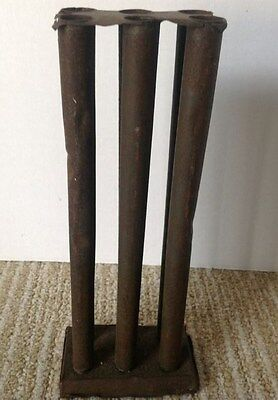 Antique tin Candlemold Six tapers 2 rows;  No Top Tray; very skinny candles