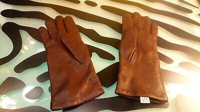 Eaton Womens Leather Gloves Vintage size 7 Good Shape Made in Hungary