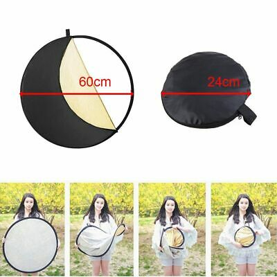 Round 5-in-1 Portable Collapsible Multi Photo Disc Photography Reflector Light