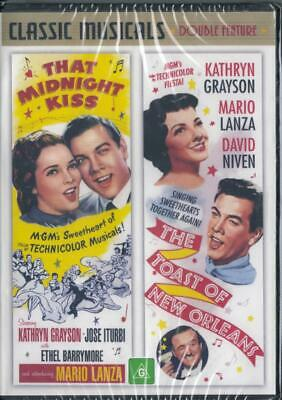 That Midnight Kiss & The Toast Of New Orleans - Lanza- New Dvd - Free Local Post