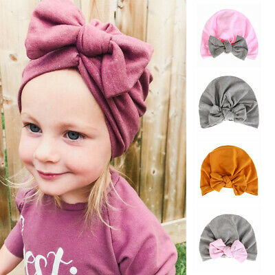 Toddler Kids Boy Girl Beanies Warm Caps Cute Baby Hat Bowknot Turban Hat