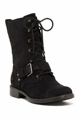 077dfc5b489 UGG MARELA WOMENS Boots Combat US 6.5 Brown Distressed Suede Cap Toe ...