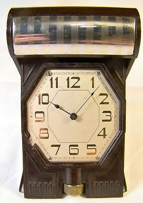 Antique Rare Waltham Crescent St Lever Set Bakelite 21 Jewel Watch Clock Working